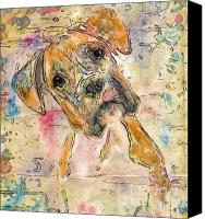 Marilyn Sholin Canvas Prints - Boxer Babe Canvas Print by Marilyn Sholin