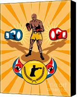Belt Canvas Prints - Boxer Boxing poster Canvas Print by Aloysius Patrimonio
