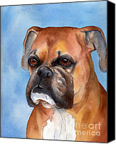 Boxer Canvas Prints - Boxer Canvas Print by Cherilynn Wood