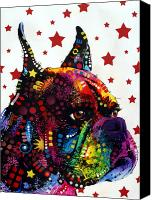 Boxer Dog Canvas Prints - Boxer Love Canvas Print by Dean Russo