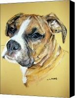Boxer Pastels Canvas Prints - Boxer Canvas Print by Tanya Patey