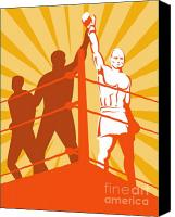 Glove Digital Art Canvas Prints - Boxing Champion Canvas Print by Aloysius Patrimonio
