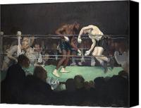 Spectators Canvas Prints - Boxing Match Canvas Print by George Luks