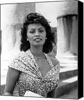 1950s Movies Canvas Prints - Boy On A Dolphin, Sophia Loren, 1957 Canvas Print by Everett