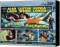 Fid Canvas Prints - Boy On A Dolphin, Sophia Loren, Alan Canvas Print by Everett