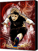 Boy Digital Art Canvas Prints - Boy Canvas Print by Svetlana Sewell