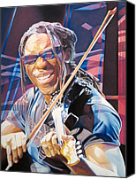 The Dave Matthews Band Canvas Prints - Boyd Tinsley and 2007 Lights Canvas Print by Joshua Morton