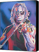 Player Canvas Prints - Boyd Tinsley Colorful Full Band Series Canvas Print by Joshua Morton