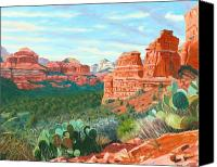 Sedona Canvas Prints - Boynton Canyon - Sedona Canvas Print by Steve Simon