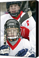 Team Canvas Prints - Boys Playing Ice Hockey Canvas Print by Ria Novosti