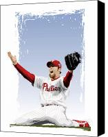 All Star Digital Art Canvas Prints - Brad Lidge Champion Canvas Print by Scott Weigner