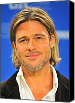 At The Press Conference Canvas Prints - Brad Pitt At The Press Conference Canvas Print by Everett