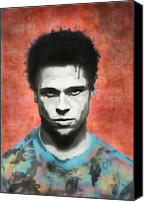 Celeb Canvas Prints - Brad Pitt Canvas Print by Cassius Cassini