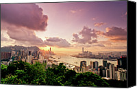 Hong Kong Canvas Prints - Braemar Hill Sunset Canvas Print by Dragon For Real