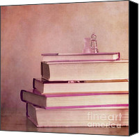 Books Canvas Prints - Brain Stuff Canvas Print by Priska Wettstein