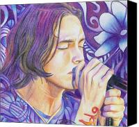 Singer Drawings Canvas Prints - Brandon Boyd Canvas Print by Joshua Morton