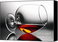 Liquor Canvas Prints - Brandy snifter Canvas Print by Tony Cordoza