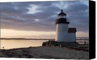 Lighthouse Canvas Prints - Brant Point Light Number 1 Nantucket Canvas Print by Henry Krauzyk