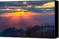 Autumn Scenes Canvas Prints - Brasstown Sunset Canvas Print by Debra and Dave Vanderlaan