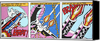 Lichtenstein Canvas Prints - Bratatatata Canvas Print by Luis Ludzska