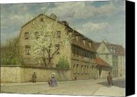 Weiland; Christoph Martin (1733-1813) Canvas Prints - Braune Weimar Canvas Print by Christoph Martin Weiland