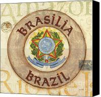 Coat Of Arms Canvas Prints - Brazil Coat of Arms Canvas Print by Debbie DeWitt