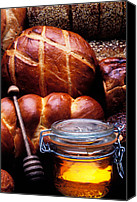 Bread Canvas Prints - Bread and honey Canvas Print by Garry Gay