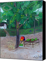 Nicole Jean-louis Canvas Prints - Breadfruit Canvas Print by Nicole Jean-Louis
