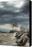Headlands Canvas Prints - Break in the Storm Canvas Print by At Lands End Photography