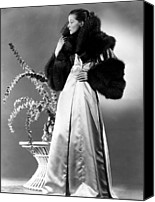 Satin Dress Canvas Prints - Break Of Hearts, Katharine Hepburn, 1935 Canvas Print by Everett