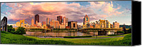 Steel City Canvas Prints - Break Open the Skies Canvas Print by Jennifer Grover