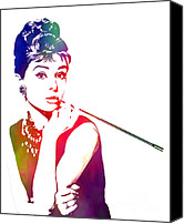 Aristocrat Canvas Prints - Breakfast at Tiffanys Canvas Print by The DigArtisT