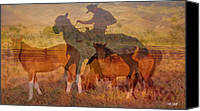 Animals Prints Pyrography Canvas Prints - Breaking sweat Busting leather Canvas Print by Mayhem Mediums