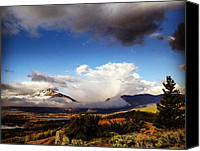 Peak One Canvas Prints - Breaking Through Canvas Print by Bob Berwyn