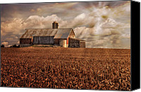 Pennsylvania Barns Canvas Prints - Breaking Through Canvas Print by Lois Bryan