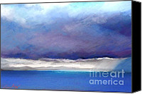 Storm Clouds Pastels Canvas Prints - Breaking through the storm Canvas Print by Nadine Kelly