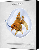 Goldfish Canvas Prints - Breath of Fresh Air Canvas Print by Rob Snow