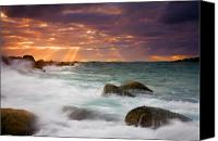 Waves Canvas Prints - Breathtaking Canvas Print by Mike  Dawson