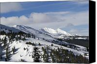 Snowboard Canvas Prints - Breckenridge Resort Colorado Canvas Print by Brendan Reals
