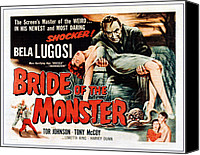 1955 Movies Canvas Prints - Bride Of The Monster, Top Bela Lugosi Canvas Print by Everett