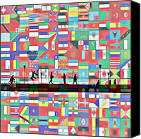 Other World Canvas Prints - Bridge between the Nations Canvas Print by Stefan Kuhn