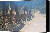 Michele Carter Canvas Prints - Bridge over Flint Creek 2 Canvas Print by Michele Carter