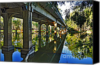 Archways Canvas Prints - Bridge over Ovens River Canvas Print by Kaye Menner