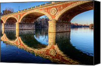 Arch Bridge Canvas Prints - Bridge Reflection On River Canvas Print by Andrea Mucelli