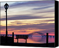 Lamppost Canvas Prints - Bridge Reflection Canvas Print by Vicki Jauron