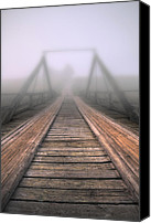 Nature Photo Canvas Prints - Bridge to fog Canvas Print by Veikko Suikkanen
