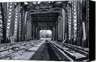Philadelphia Canvas Prints - Bridge to No Where 2 Canvas Print by Louis Dallara