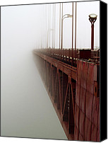 Frisco Canvas Prints - Bridge to Obscurity Canvas Print by Bill Gallagher
