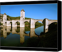 Arch Bridge Canvas Prints - Bridge Valentre Canvas Print by Dubusregis