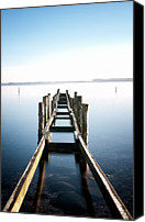 Wooden Post Canvas Prints - Bridge Canvas Print by Www.henrikhansen.nu